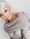 Human Hair Capless Wigs Human Hair Straight Layered Haircut Pixie Cut Natural Hairline Machine Made Wig