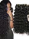 Brasilianskt hår Stora vågor Human Hår vävar 3 paket Hårförlängning av äkta hår Svart