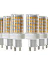 YWXLIGHT® 6pcs 10W 900-1000lm G9 LED-lampor med G-sockel T 86 LED-pärlor SMD 2835 Bimbar Varmvit Kallvit Naturlig vit 220-240V