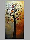 Hang målad oljemålning HANDMÅLAD - Abstrakt Blommig / Botanisk Samtida Moderna Duk