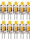 SENCART 10pcs 2W 240-280 lm G4 Becuri LED Bi-pin T 1 led-uri COB Decorativ Alb Cald Alb Rece 12V