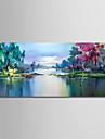 Peinture a l\'huile Hang-peint Peint a la main - Abstrait Paysage Moderne Toile
