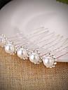 Imitație de Perle Ștras Pini de păr with Piatră Semiprețioasă Imitație de Perle 5 Piese Nuntă Diadema