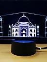 1set 3D nattlampa DC-driven Stress och ångest Relief Med USB-port Färgskiftande