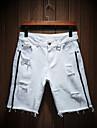 Bărbați Bumbac Pantaloni Scurți Pantaloni - Găurite, Mată