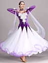 Fuer den Ballsaal Kleider Damen Training Leistung Tuell Samt Applikationen Kristalle / Strass Langarm Hoch Kleid Neckwear