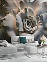 Blommig Konst Dekor 3D Hem-dekoration Klassisk Moderna Tapetsering, Duk Material lim behövs Väggmålning, Tapet