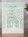 Wrap & Pocket Wedding Invitations 50 - Invitation Cards Classic Style Embossed Paper Embossed