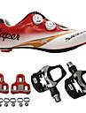SIDEBIKE Cykelskor med pedaler och klossar Skor för vägcykel Vuxna Stötdämpande Vägcykling Utomhus Andningsbart Nät PU EVA Cykling / Cykel