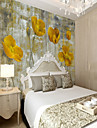 Blommig Konst Dekor 3D Hem-dekoration Klassisk Vintage Tapetsering, Duk Material lim behövs Väggmålning, Tapet