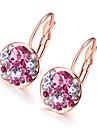 Per donna Zircone cubico piccolo diamante Orecchini a goccia Orecchini Donne Di tendenza Gioielli Argento / Oro rosa Per Matrimonio Quotidiano