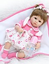 NPKCOLLECTION NPK DOLL Reborn Doll Girl Doll Baby Girl 18 inch Silicone - Newborn lifelike Cute Eco-friendly Hand Made Child Safe Kid\'s Unisex / Girls\' Toy Gift / Parent-Child Interaction