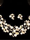 Dámské Šperky Set Napodobenina perel Leaf Shape, Kytky Sladký Zahrnout Zlatá / Stříbrná Pro Svatební Párty