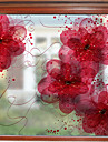 Glasfolie en stickers Decoratie Bloemen / Hedendaagse Bloemen PVC Raamsticker / Mat