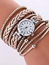 Γυναικεία Μοδάτο Ρολόι Diamond Watch Χαλαζίας Συνθετικό δέρμα με επένδυση Μαύρο / Λευκή / Μπλε απομίμηση διαμαντιών Αναλογικό κυρίες Καθημερινό Μοντέρνα - Κόκκινο Μπλε Ροζ / Ενας χρόνος / Ενας χρόνος