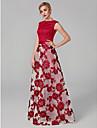 Linia -A Bateau Lungime Podea Dantelă Bal / Seară Formală Rochie cu Aplică de TS Couture®