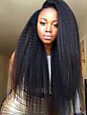 Obehandlat Peruk Brasilianskt hår Rak Sidodel 130% Densitet Till färgade kvinnor Afro-amerikansk peruk Svart Korta Lång Mellanlängd Dam