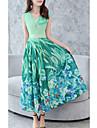 Pentru femei Șic Stradă Swing Rochie Floral Maxi