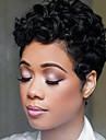 Perucas de cabelo capless do cabelo humano Cabelo Humano Encaracolado Bob curto Riscas Naturais Natureza negra Fabrico a Maquina Peruca