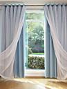 gardiner draperier Vardagsrum Enfärgad Bomull / Polyester Färgat garn