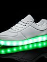 Pentru femei Pantofi PU Primăvară Toamnă Confortabili Adidași Toc Drept Vârf rotund Dantelă LED pentru Casual Alb Negru