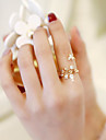 manžeta Ring Nastavitelný kroužek Kytky Motýl Módní Fashion Ring Šperky Růžové zlato Pro Svatební Rande Nastavitelný