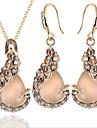 Dámské Opál Klasika Šperky Set Páv Módní, Elegantní Zahrnout Svatební šperky Soupravy Zlatá Pro Párty Narozeniny