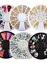 6 pcs Комплект сверла для ногтей Хрусталь маникюр Маникюр педикюр Свадьба / Вечерние / На каждый день металлический