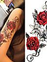 3 pcs Временные тату Временные татуировки Тату с цветами / Романтическая серия Искусство тела Корпус / плечо / ножка