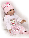 NPKCOLLECTION NPK DOLL Reborn Doll 24 inch Silicone - Newborn lifelike Cute Child Safe Non Toxic Hand Applied Eyelashes Kid's Unisex / Girls' Toy Gift / Artificial Implantation Blue Eyes