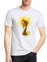 Bărbați Tricou Activ De Bază - Bloc Culoare Imprimeu