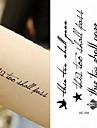 10 pcs Временные тату Временные татуировки Серия сообщений Искусство тела рука