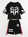 Băieți Zilnic Sport Imprimeu Set Îmbrăcăminte, Bumbac Vară Manșon scurt Activ Alb Negru