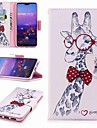Capinha Para Huawei P20 Pro / P20 lite Carteira / Porta-Cartao / Com Suporte Capa Protecao Completa Animal Rigida PU Leather para Huawei P20 / Huawei P20 Pro / Huawei P20 lite / P10 Plus / P10 Lite