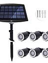 YWXLIGHT® 6pcs 0.2W Lumini de gazon / Lumini Subacvatice Solar / Intensitate Luminoasă Reglabilă / Rezistent la apă Alb Cald / Alb Natural