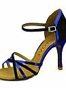 Femme Chaussures Latines / Chaussures de Salsa Paillette Brillante / Soie Sandale / Talon Boucle / Ruban Talon Personnalise / Utilisation