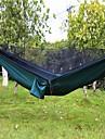 Campinghammock med myggnät Utomhus Lättvikt, Mateial som andas Nylon för Camping / Resor - 2 personer Svart / Mörkgrön / Armégrön