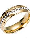 Zirconiu Cubic Band Ring / Eternity Ring - inox Clasic, Modă 6 / 7 / 8 Auriu / Argintiu Pentru Logodnă / Cadou / Zilnic
