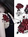 3 pcs Временные тату Временные татуировки Тату с цветами / Романтическая серия Искусство тела рука