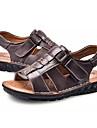 Bărbați Pantofi Nappa Leather / Piele Vară Confortabili Sandale Negru / Maro
