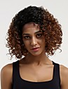 Remy Human Hair Lace Front Wig Layered Haircut Brazilian Hair Curly Auburn Wig 130% Density with Baby Hair Ombre Hair Dark Roots Auburn Women\'s Short Human Hair Lace Wig Aili Young Hair