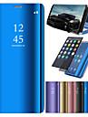 Capinha Para Huawei P20 / P20 lite Com Suporte / Galvanizado / Espelho Capa Protecao Completa Solido Rigida PU Leather para Huawei P20 / Huawei P20 Pro / Huawei P20 lite / P10 Lite