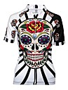 Malciklo Women\'s Cycling Jersey - Black / Red / White Skull Plus Size Bike Jersey Breathable Quick Dry Anatomic Design Sports Skull Mountain Bike MTB Road Bike Cycling Clothing Apparel