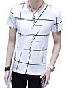 Ανδρικά T-shirt Μονόχρωμο Στρογγυλή Λαιμόκοψη / Κοντομάνικο