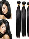 3 bundels Peruaans haar Recht Echt haar Bundle Hair / Extentions van mensenhaar 8-28 inch(es) Natuurlijke Kleur Menselijk haar weeft uitbreiding / Beste kwaliteit / Hot Sale Extensions van echt haar