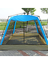 -8 אנשים אוהל עם הצללה אוהל בית עם הצללה חיצוני עמידות UV נשימה שכבה כפולה אוטומטי קמפינג אוהל 2000-3000 mm ל מחנאות / צעידות / טיולי מערות פיקניק בד אוקספורד PE מתכת אל חלד 220*220*140 cm