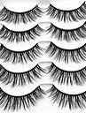 Rzęsa Sztuczne rzęsy 10 pcs Profesjonalny Zagęszczające Natutalne Curly Profesjonalny Włókno Wydarzenie / impreza Dzienne zużycie Grube Naturalna długość - Makijaż Makijaż codzienny Makijaż na