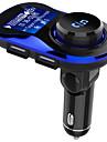 zestaw samochodowy bluetooth zestaw głośnomówiący bezprzewodowy nadajnik fm samochodowy odtwarzacz mp3 z ekranem dotykowym o przekątnej 1,4 cala, dużym wsparciem karty tf / u dysku