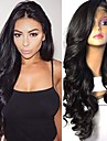 Synthetic Wig / Synthetic Lace Front Wig Wavy Kardashian Style Layered Haircut Lace Front Wig Black Natural Black Dark Brown Synthetic Hair 26 inch Women\'s Soft / Adjustable / Best Quality Black Wig