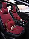 ODEER Pokrowce na fotele Pokrowce na siedzenia Czarny / Czerwony Włókienniczy Kreskówka / Zwykły Na Univerzál Wszystkie roczniki Wszystkie modele